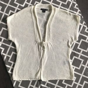 EUC August Silk Ivory cardigan (PS)